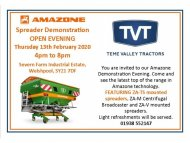 Amazone Spreader Open evening