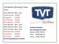 Welshpool Christmas Opening Times