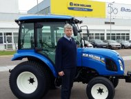 James Emery a New Holland Boomer 40