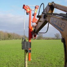 Digger Mounted Post Drivers